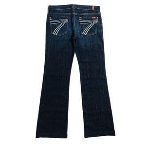 "7FAMK Dojo Jeans 30 u115380s hemmed 34"" inseam"